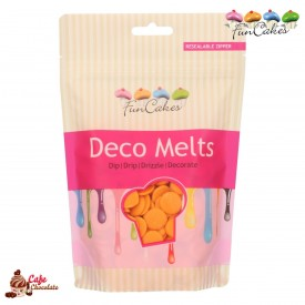 Polewa Pomarańczowa Deco Melts 250g FunCakes