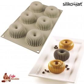 Silikomart MINI RAGGIO Prążkowana forma silikonowa