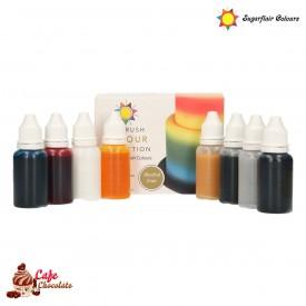 Sugarflair Zestaw Barwników 8 x 14 ml