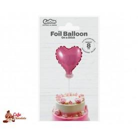 Topper Serce Balonik Foliowy 8 cm