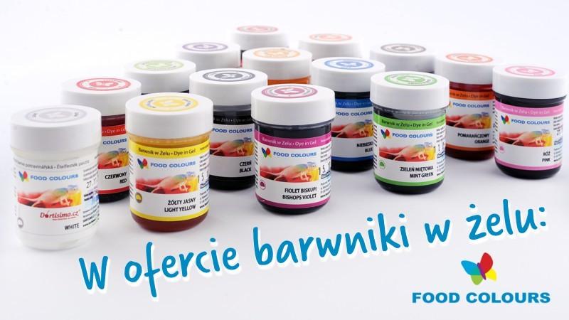 Barwniki w żelu Food Colours